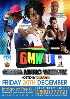 GHANA MUSIC WEEK UK ON DECEMBER 30 @ghanamusicwk