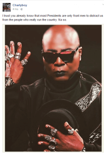 Most Presidents Are Only Front Men...Charlyboy