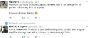 2face Trends On Twitter As Nigerians Support 'The Protest'
