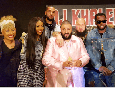 Tiwa Savage Shares Photo With P. Diddy, DJ Khaled and Emeli Sande Ahead of The Grammys In LA