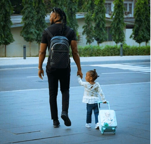 Flavour Steps Out With His Beautiful Daughter, Sophia