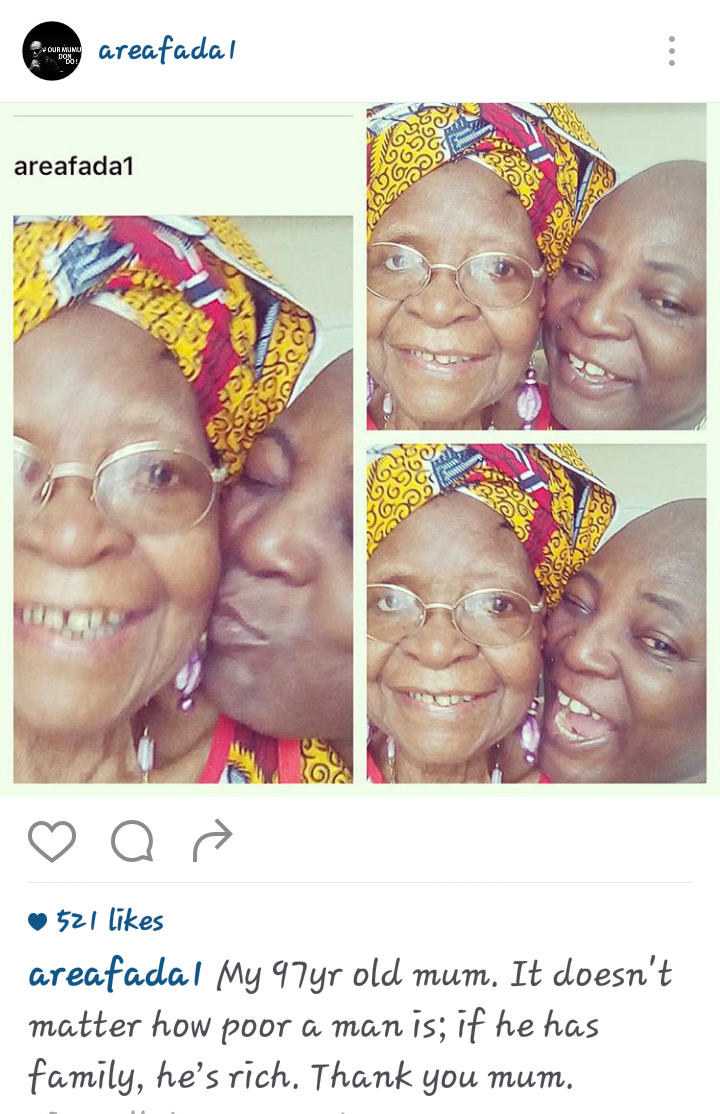 When your mum is bae - Charlboy gushes over 97-year-old mum
