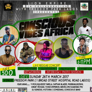 Lagos reggae festival set to hold March 26