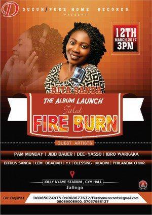 Album Launch – Rita Sanda drops Fire Burn