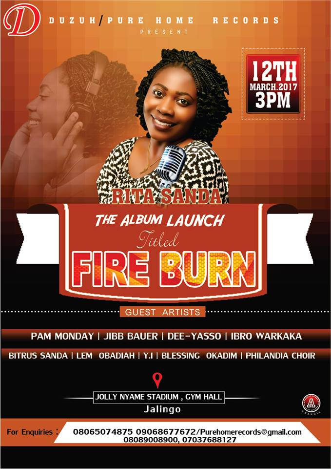 Photo of Album Launch – Rita Sanda drops Fire Burn