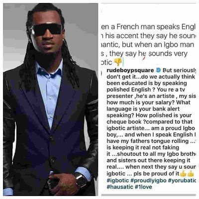 I have 'Igbotic' accent but my check book is polished - Paul Okoye blasts critics