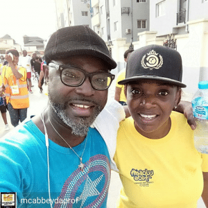 2face Idibia's Daughter Isabella Leads The Walk For Kids This Morning