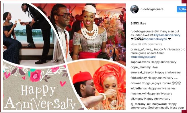 Paul Okoye, Psquare, wife Anita, 3 years wedding anniversary