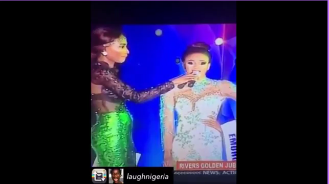 Photo of Wawuu! See how Miss Rivers contestant disgraced herself when asked a question [VIDEO]