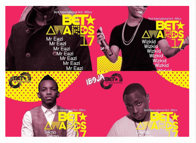 Photo of BET Awards 2017: Why Wizkid may win Best International Act over Davido, Tekno [FULL LIST]