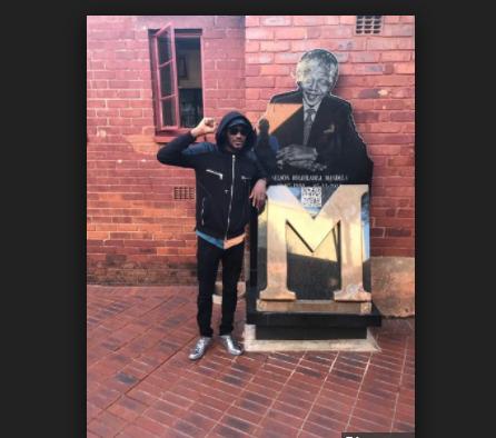 Annie Idibia jealous as 2baba visits Nelson Mandela's home SA