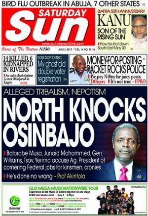 Naija.fm Newspaper Review – 3 June 2017