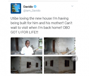 Davido shows off house he's building for Utibe