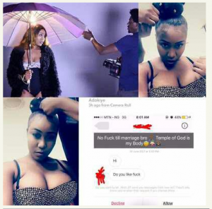 Adokiye Kyrian's epic response to male fan who asked for her virginity