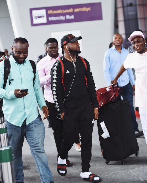 Davido gets new haircut to honour his cult, Black Axe as he arrives Ukraine for '30 billion' world tour
