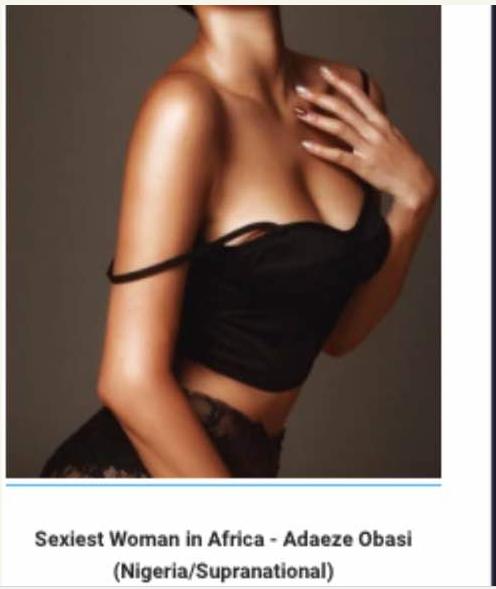 Nigerian beauty queen, Adaeze Marian Obasi emerges sexiest woman alive in Africa