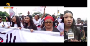 Tonto Dikeh fumes during match against domestic violence