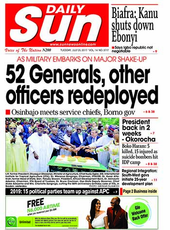 Naija.fm Newspaper Review - 25 July 2017