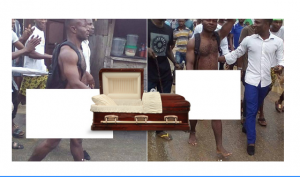 Yahoo boy paraded naked for attempting to use lover for rituals after s*x