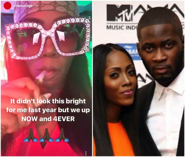 Tiwa Savage mends fences with hubby?