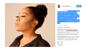 Moyo Lawal says she's been struggling with depression
