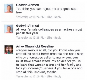 Nigerian guy curses Omotola for blocking him