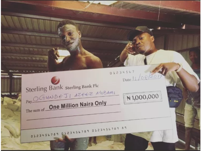 Olamide rewards winner of his #WoChallenge N1m
