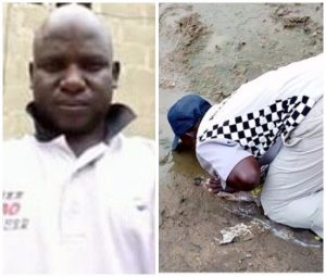 Nigerian man drinks mud water to fulfill vow he made over Buhari's return