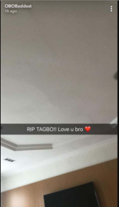 Davido finally reacts to Tagbo's death