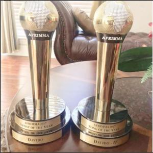Davido dedicates AFRIMMA awards