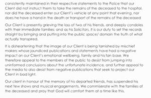Davido releases statement