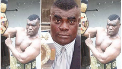Photo of Nigerian wrestler, Power Uti arraigned for allegedly killing wife, detaining corpse