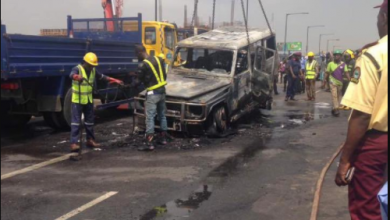 Photo of Fani-Kayode reveals cause of fire that burnt Fayose's car [PHOTOS]