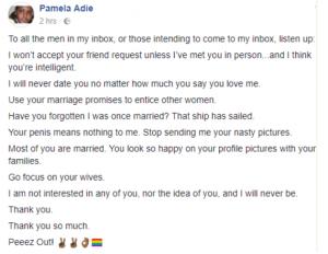Nigerian lesbian Pamela Adie