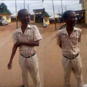 Man who allegedly defiled