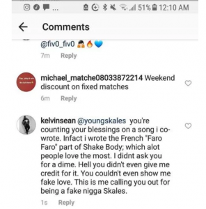 Singer Kelvin Sean reveals how Skales