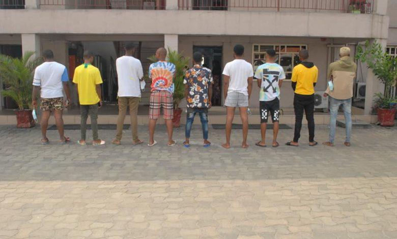 9 Suspected yahoo boys arrested