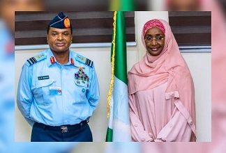 Photo of Minister Sadiya Farouq reportedly marries Chief of Air Staff in a Secret Ceremony