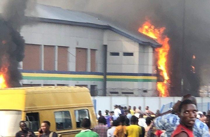 Orile Police station on fire