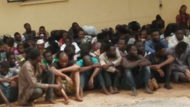 Photo of 77 Nigerians face trial over COVID-19 palliatives looting.