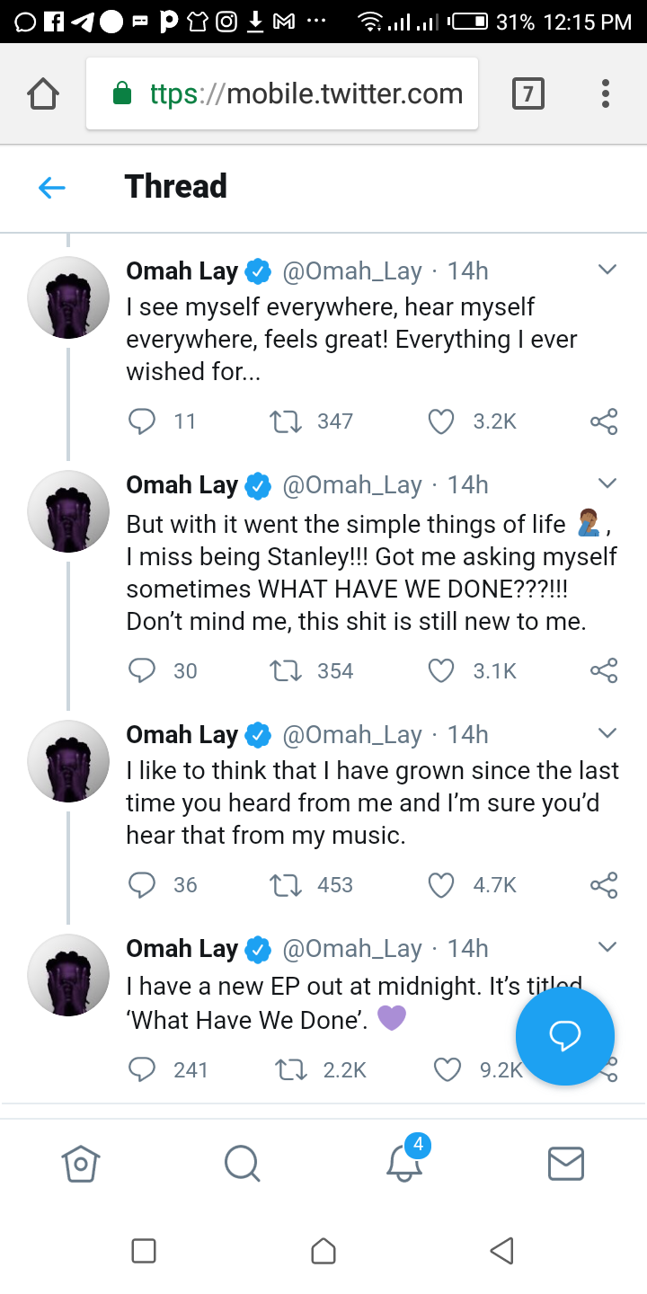 NAIJA.FM What Omah Lay said about his past as he drops EP