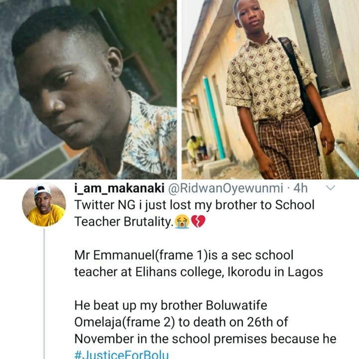 NAIJA.FM TRAGIC! Teacher Beats Student to Death For Failing Maths Teacher