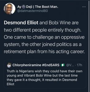 Desmond Elliot Dragged