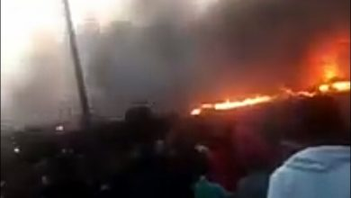 NAIJA.FM 12 Shops Burnt Severely In Lagos By Fire From Power Surge Power surge