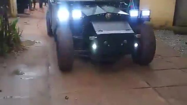 Nigerian Man Makes An Armour War Car