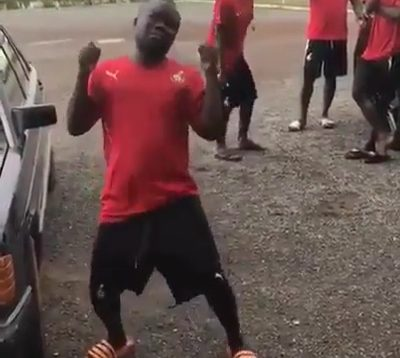 Video Of A Ghanian Footballer Dancing