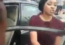 Angry Lady Destroys Her Lover's SUV