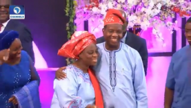Pastor Adeboye Kisses Wife In Public