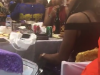 Lady Caught Sneaking Food From A party