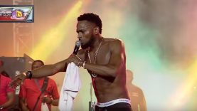 D'Banj rescues female fan about to be assaulted while he performs on stage and fans turns on him, throwing water bottles and other things at him. Then he goes on with his performance like nothing happened and eventually breaks through to the fans again. Isn't this heroic? I think this is an act of bravery and I love it.